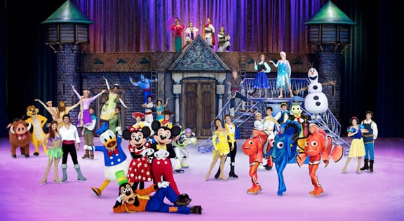 disney characters at disney on ice newcastle