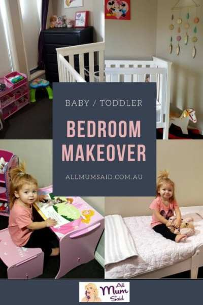 Baby Toddler bedroom makeover
