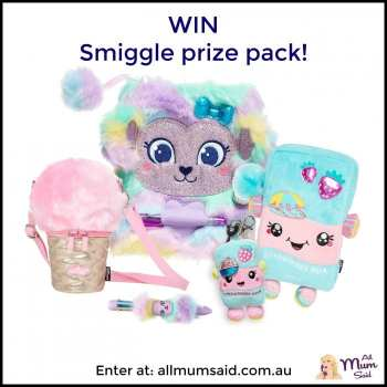 Smiggle giveaway Fluffy Pack
