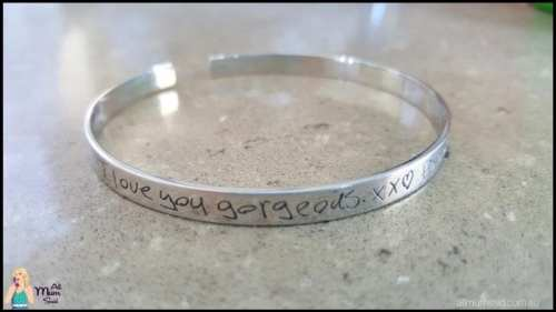 personalised jewellery for women - handwritten laser engraved cuff