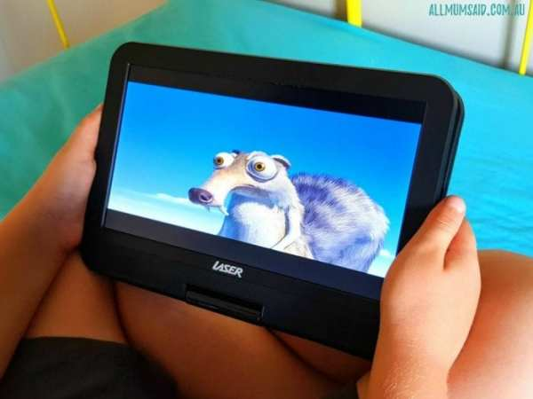 portable DVD player flat option