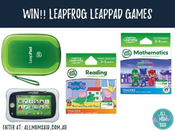 LeapFrog LeapPad games giveaway