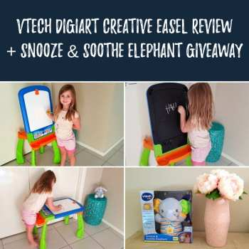 VTech DigiArt Creative Easel Review + Snooze & Soothe Elephant Giveaway