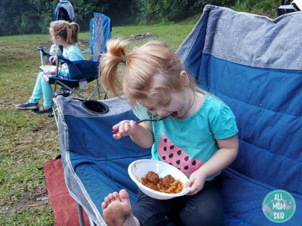 Marathon Foods chef direct beef meatballs camping with kids