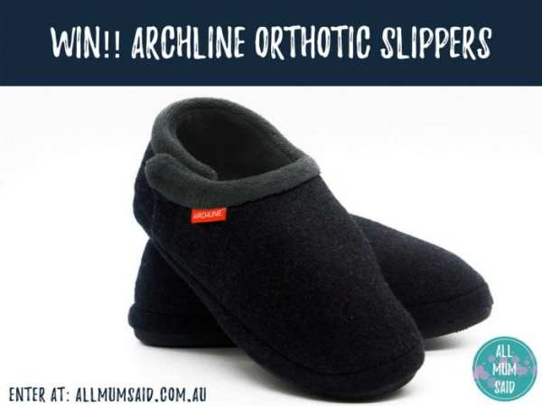 Archline Orthotic Slippers Charcoal Closed giveaway