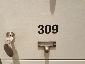 My shoe locker number at the onsen