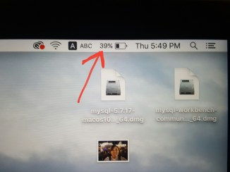 Battery level on my laptop