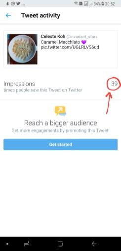 39 people saw my tweet