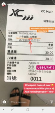 The address on the receipt (a photo from an instastory) has the number 39 on it