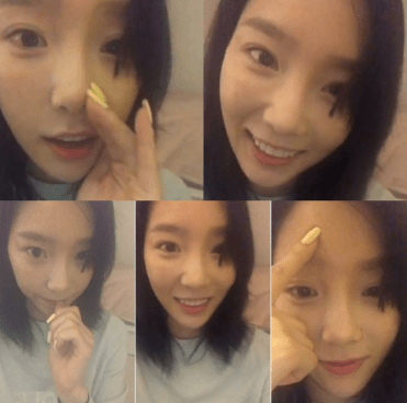 Taeyeon on InstaLive on her birthday