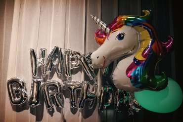 My set of balloons on that day