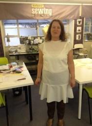 Drop waist dress toile