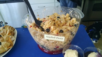 Seashell pasta salad
