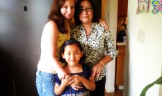 2014 with my sister and niece in the States