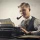 Writer Typing Computer