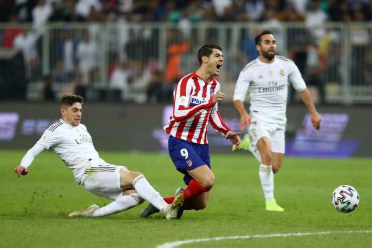 Spanish Super Cup: Federico Valverde Apologize To Morata After Red Card
