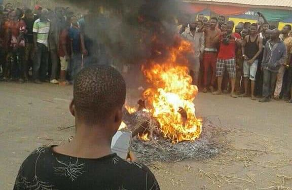 Edo witch burnt to death fire