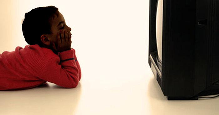 Kid Watching Television