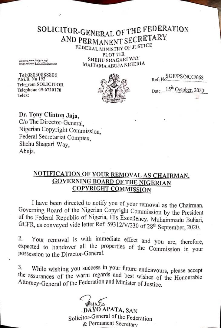 Buhari sacks Tonye Jaja, NCC board chairman
