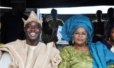 Seyi Makinde and mother
