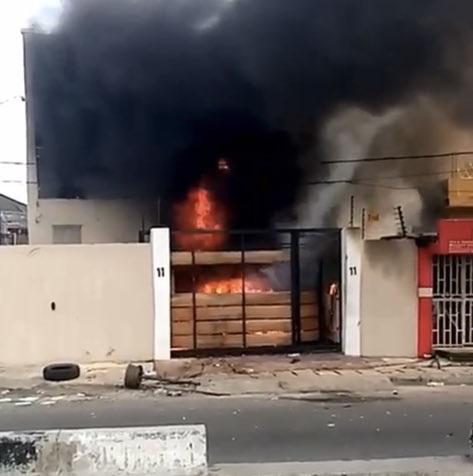 TVC On fire