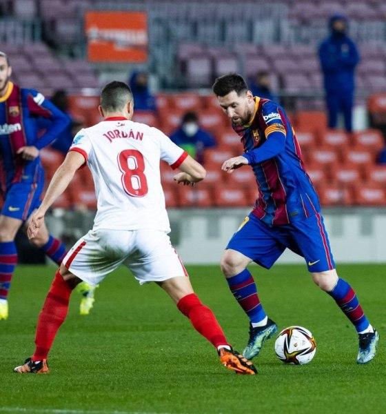 Lionel Messi Barcelona Sevilla Copa Del Rey Semi Final