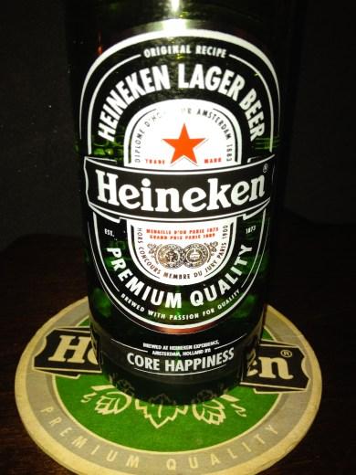 A Core Happiness bottle of Heineken