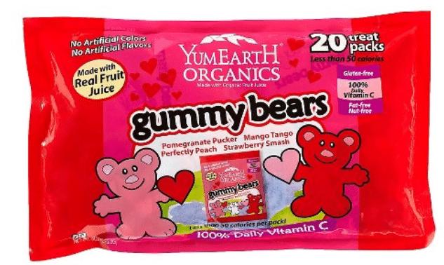 Target YumEarth Organics Valentines Gummy Bears Coupon
