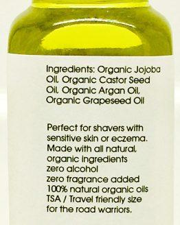 Shave Oil Back Label