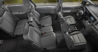 2021 Toyota Sienna XLE with new interior design