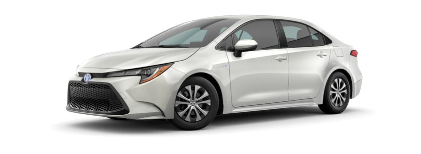 2021 Toyota Corolla Hybrid with new exterior style design