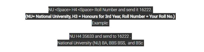 nu 4th year result