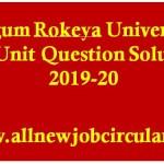 brur all unit question solve 2019-20