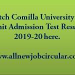 cou admission test result 2019-20
