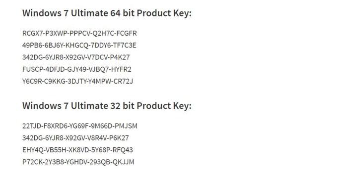 windows 7 ultimate serial key