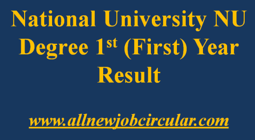 nu degree first 1st year result
