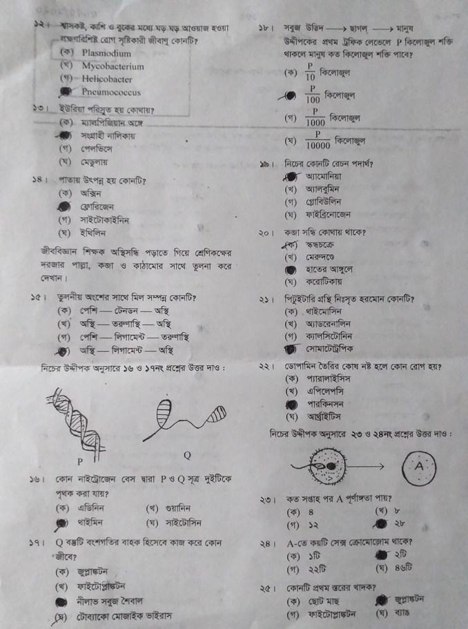 SSC Biology MCQ Solution MCQ Answer Sylhet Board