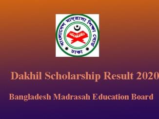 dakhil scholarship result
