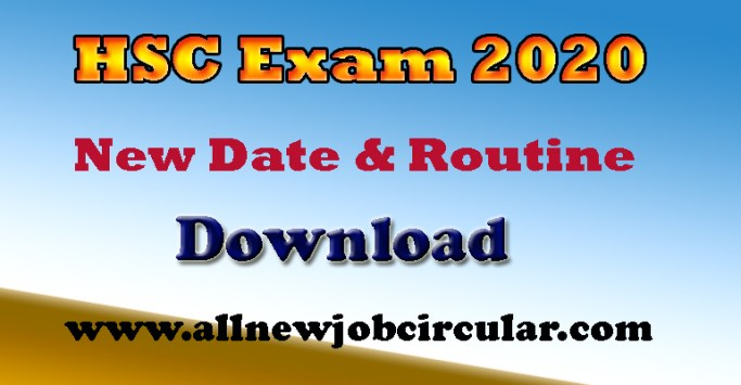 hsc exam 2020 date and routine