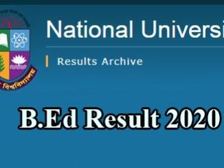 nu b.ed result 2020