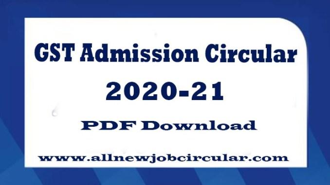 gst admission circular 2020-21