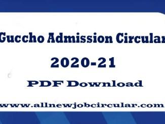 guccho admission circular 2020-21