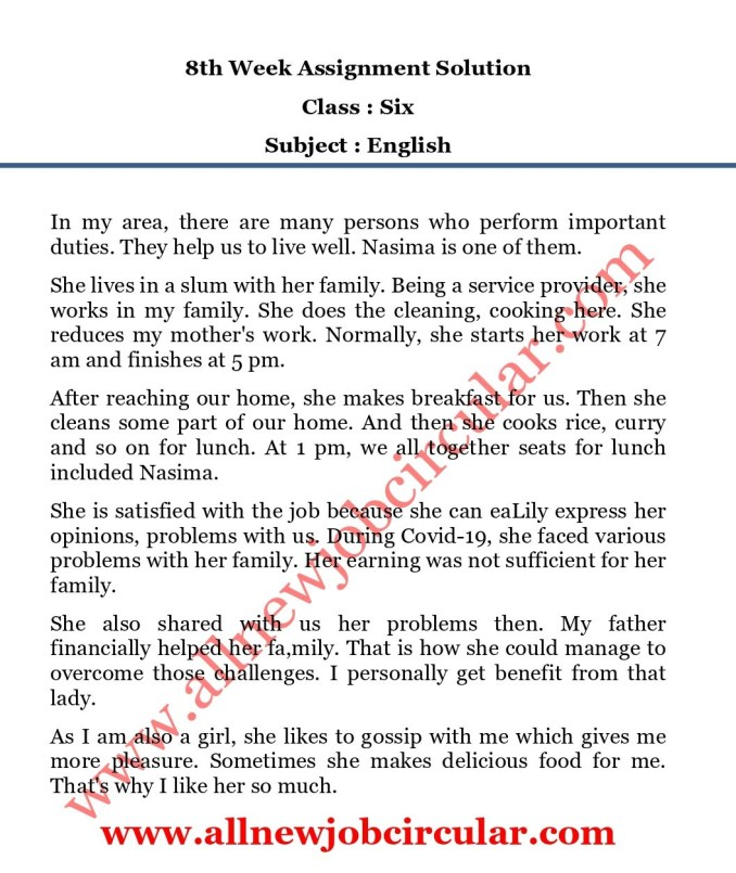 class 6 english assignment 8th week answer_page-0001