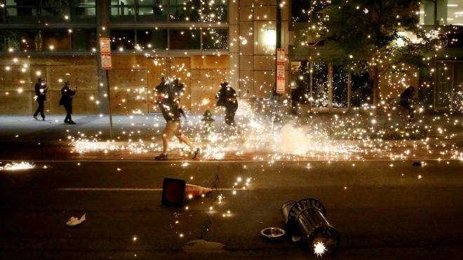 George Floyd death: Violence erupts in many US cities on sixth day of protests