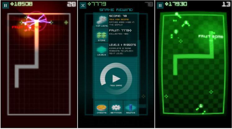 snake rewind screenshots
