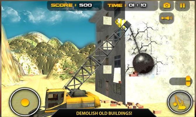 wrecking ball demolition crane screenshot