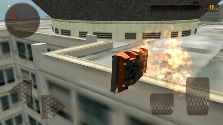 demolition derby high rise crash