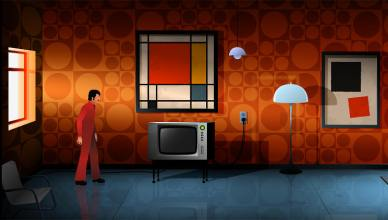the silent age 70s wallpaper room