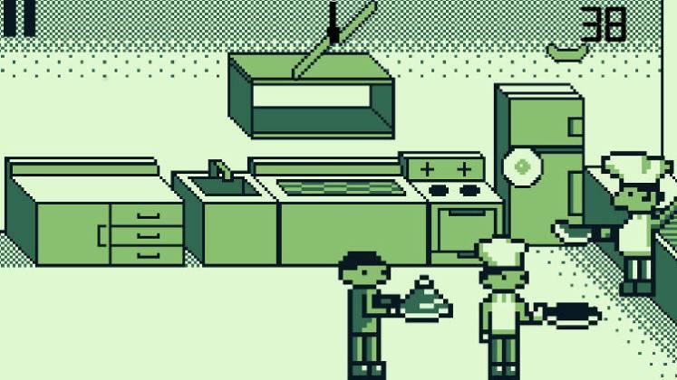 pixel kitchen food chef