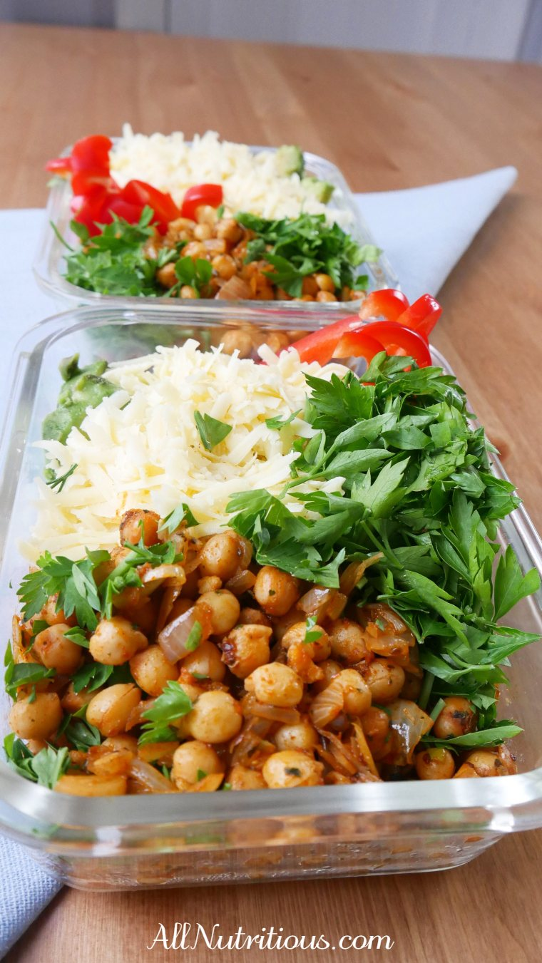 Spicy Chickpea Meal Prep Bowl